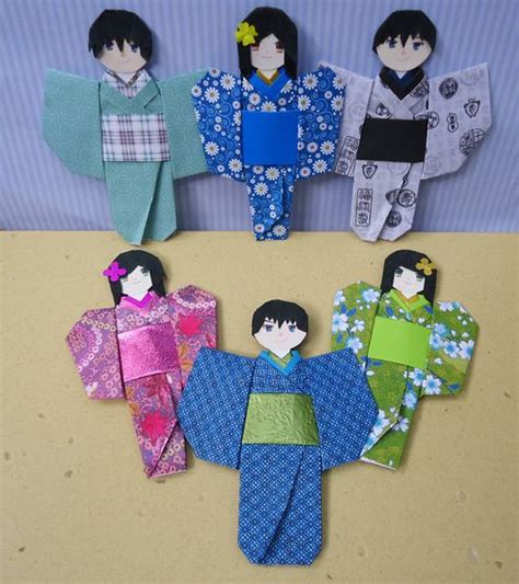 136 best images about japanese doll on origami