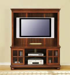 T V Stands With Cabinet Doors Brown Santos Mahogany Wood Media Cabinet With Mounted Flat Screen Tv Of Tv Stands For