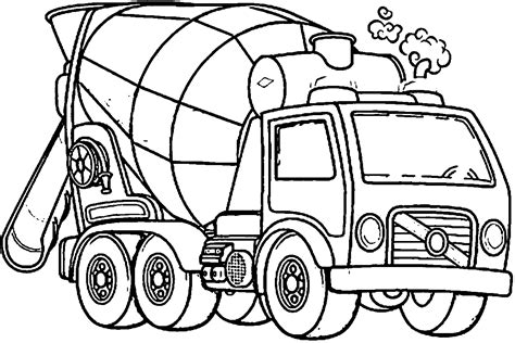 coloring book pages truck cement truck coloring page coloring home