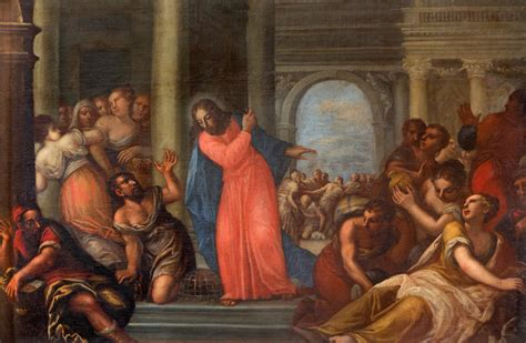 jesus cleanses the temple in the presence of a true prophet no one escapes
