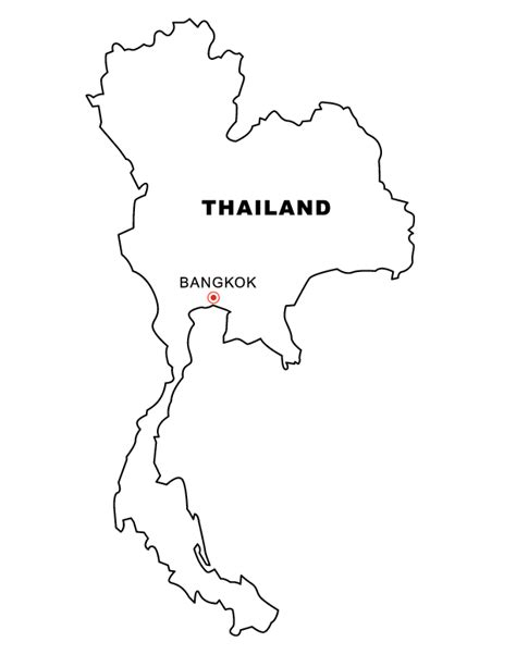 printable map thailand thailand map free coloring pages