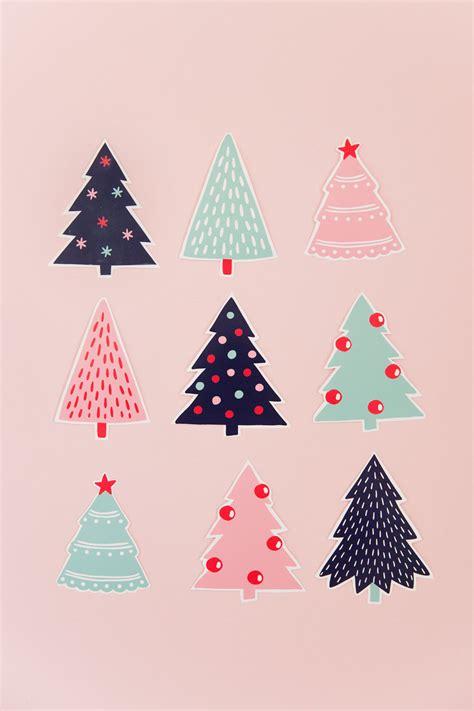 printable christmas tree gift tags  love  party