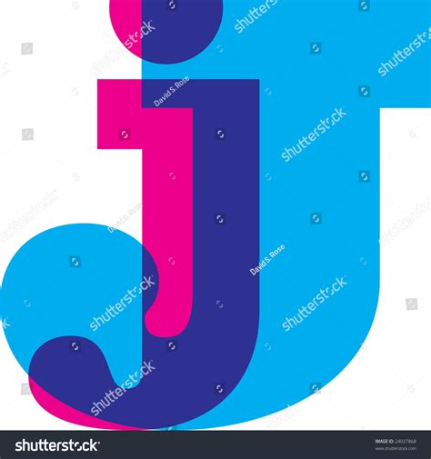 children s alphabet 3d cyan letter j alphabet symbol design stock illustration