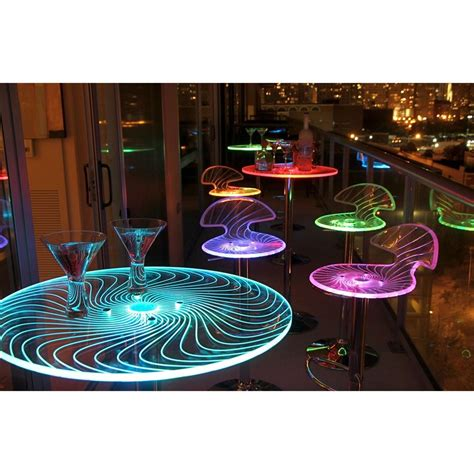 led light table spyra led light up bar table furniture accent decor event indoor outdoor ebay