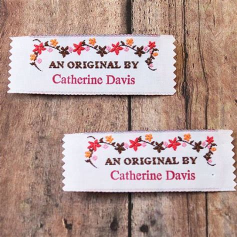Custom Labels For Handmade Items - fabric labels for handmade items diy crush