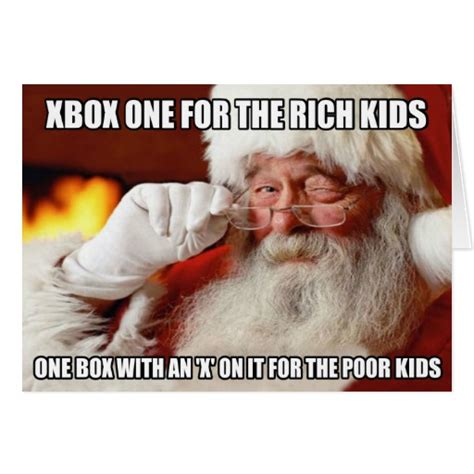 Funny Meme Cards - funny santa claus xbox one meme cards zazzle
