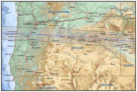map of oregon solar eclipse oregon eclipsophile