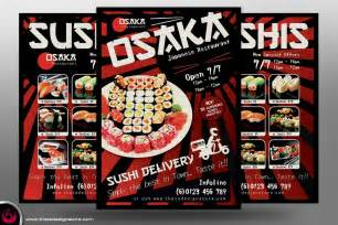 Delivery Flyer Template by Sushi Delivery Flyer Template Tds