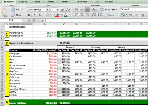 school budget template excel best photos of school budget template excel college
