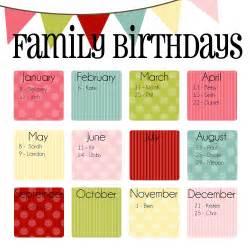 Items similar to family birthday calendar digital copy you print in