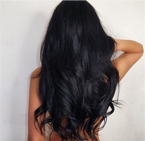 photos of lovely dark black long silky hairs of indian chinese girls in braided pony styles curly hair via tumblr image 2974181 par bobbym sur