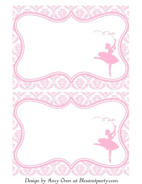 templates for ballerina invitations ballerina party free printable invitation
