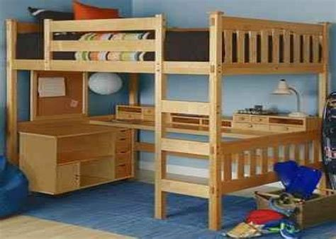 Bunks Beds With Desk by Desk Bunk Bed Combo Size Loft Bed W Desk Underneath