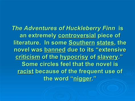 controversies about the word niggardly wikipedia the adventures of huck finn background