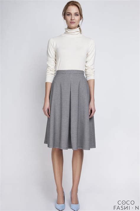 houndstooth retro style midi lenght skirt with fold