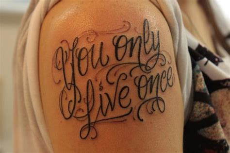 tattoo ideas you only live once you only live once poem on right shoulder