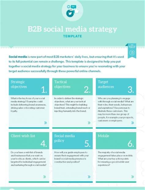 B2b Templates by Social Media Strategy Template Social Media Strategy