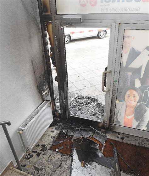 Neuenlander Auto Center by Anschlag In Bremen Brand Bombe Explodiert Vor Job Center