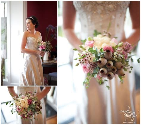 Australian Native wedding bouquet / Gum nuts, gum leaves