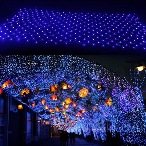 christmas lights from dallas on the ground 8 modes led net lights lights 204leds 2 3m outdoor strings light for garden
