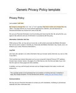 free privacy policy templates company policy template 6 free pdf documents