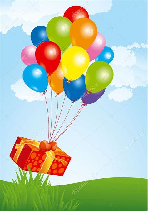 imagenes de regalo con globos deamor volar globos con caja de regalo archivo im 225 genes