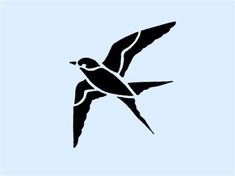 printable wall stencils birds flying birds stencil clipart best