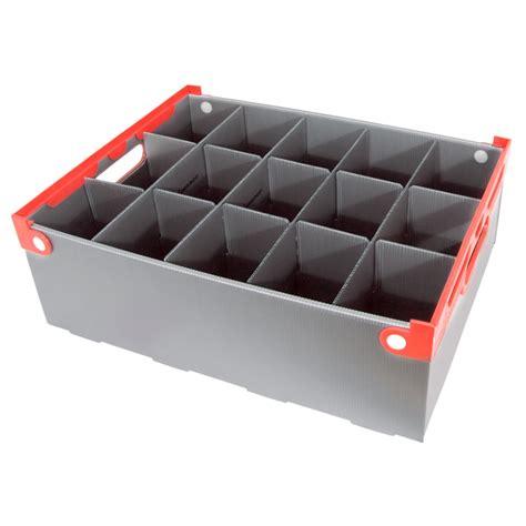 barware storage wine glass storage box 15 cells 160mm high barware uk