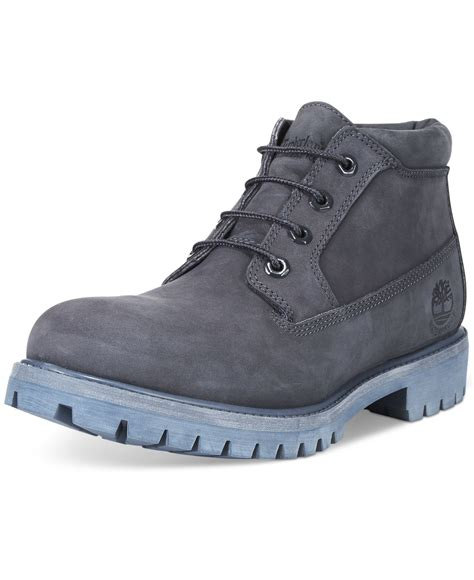 timberland boots blue mens timberland s nelson chukka boots in blue for navy