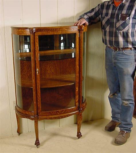 small oak curio cabinet small oak curio cabinet