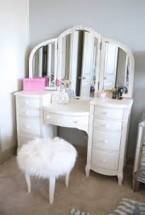 vanity southern curls pearls bedroom reveal