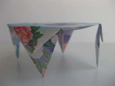 How To Make Origami Table - origami origami table
