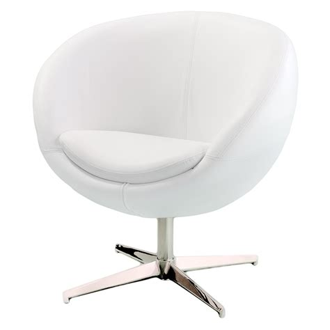 White Leather Accent Chair Best Selling Home Decor Modern White Leather Roundback Chair Accent Chairs At Hayneedle