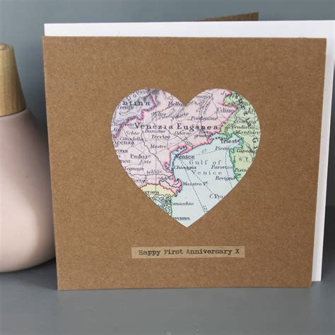 map card personalised vintage map cards by posh totty designs