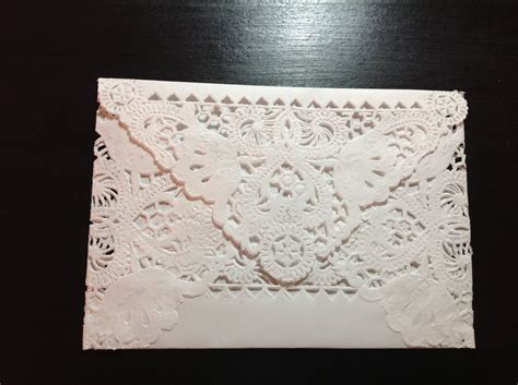 How To Make Paper Doily Envelopes - paper lace doily envelopes one 1 envelope