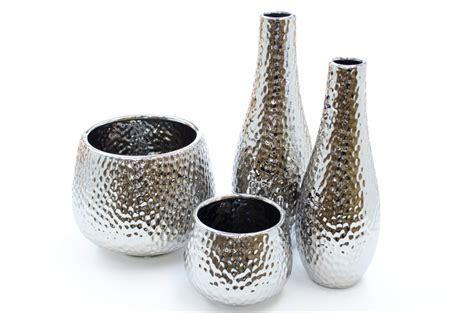 silver vase silver hammered supernova vase van vliet new york