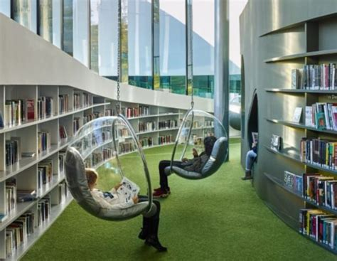 a futuristic library in france is like the city s living room pictures