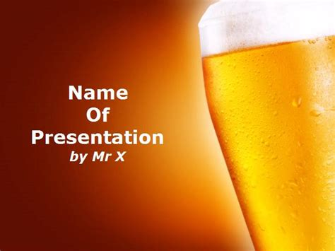 liquor themed powerpoint free download glass of beer powerpoint template