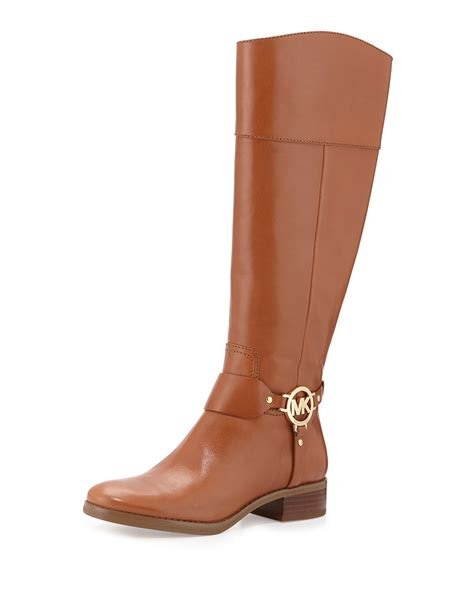 michael kors brown boots michael michael kors fulton harness leather boots