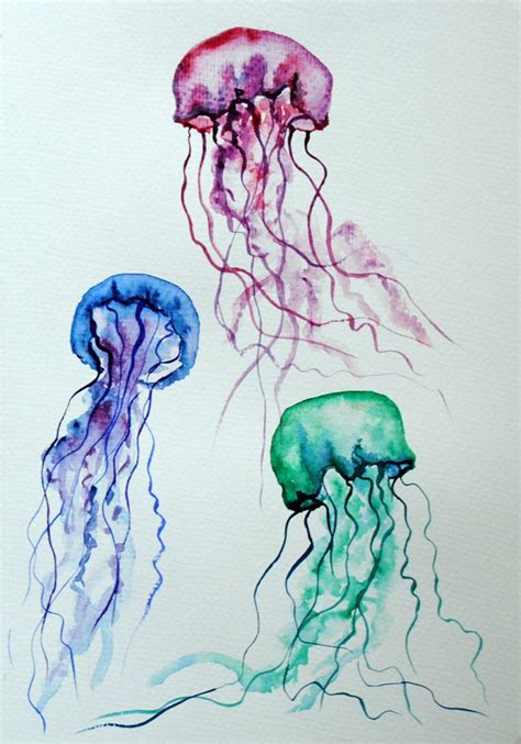 25 unique watercolor jellyfish ideas on pinterest jelly