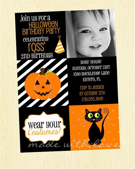 printable birthday invitations halloween theme a halloween birthday a 5x7 halloween party birthday
