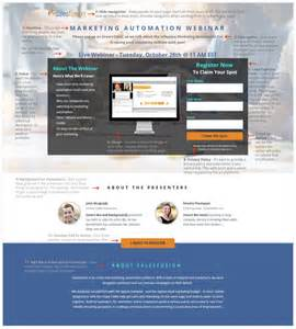 Sales Landing Page Template by Webinar Landing Page Template Salesfusion