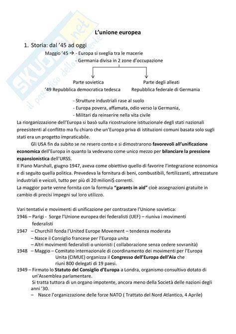 dispensa diritto pubblico unione europea appunti di diritto pubblico