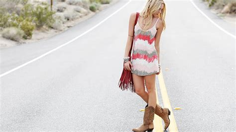 dress to wear with cowboy boots the 15 best dresses to wear with cowboy boots stylecaster