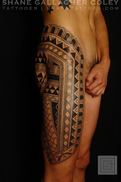 filipino tribal leg tattoo shane tattoos leg