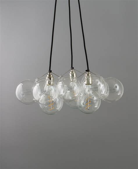 bubbles chandelier chandelier point 12 bauble glass pendant