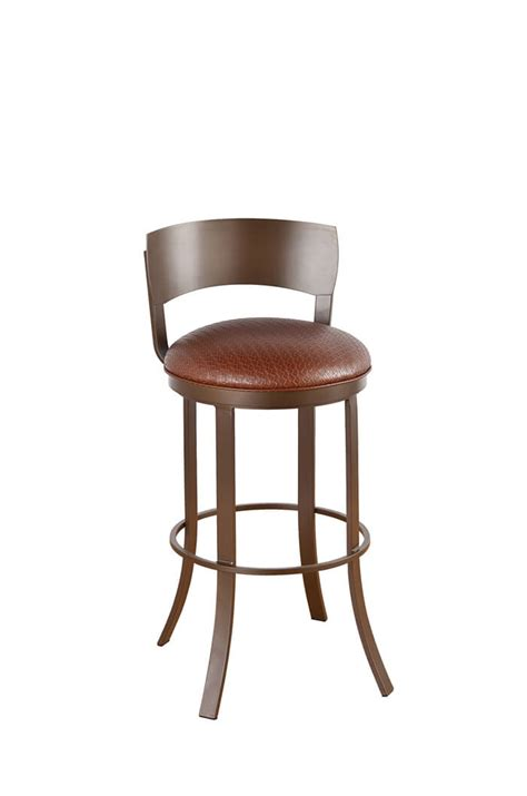 bar stools with backs and swivel callee bailey swivel bar stool w metal back modern