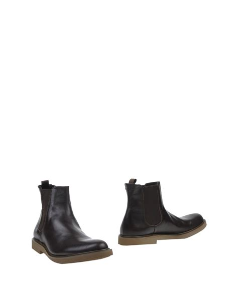 klein boots calvin klein ankle boots in brown for lyst