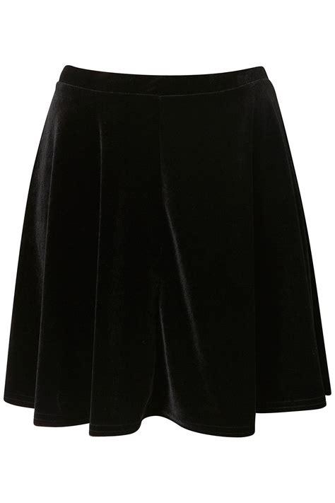 Kokosalaki For Topshop by Lyst Topshop Black Velvet Skater Skirt In Black