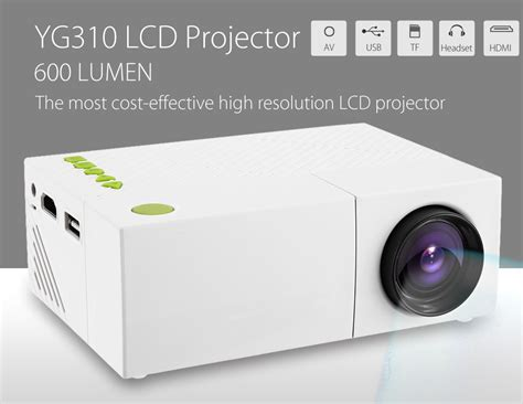 Harga Murah Mini Portable Projector Led 100 Lumens With Sd Card Suppo proyektor mini lcd 1080p 600 lumens yg310 white jakartanotebook